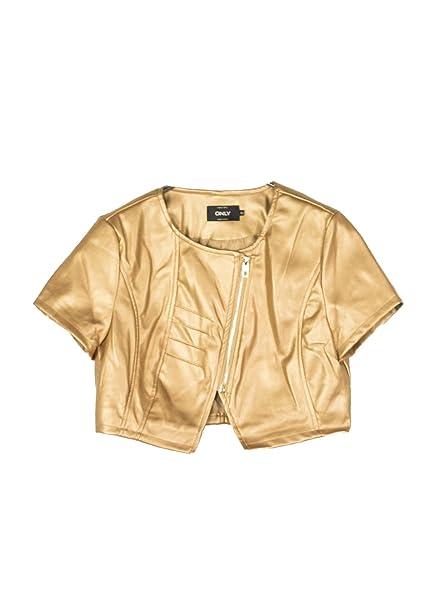 ONLY 15156969 MILL ABRIGOS Y CHAQUETAS, Y CAZADORAS Mujer GOLD 36/S: Amazon.es: Ropa y accesorios