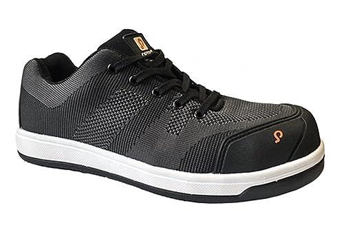 Pesso - Calzado de Seguridad de Textil Tejido Hombre, Color Negro, Talla 39