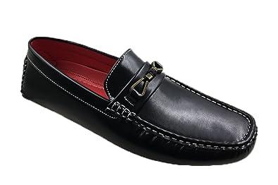 277da8ddce48f Andrew Fezza AF-8017 Dexter Men s Bit Buckle Slip-ons Loafers