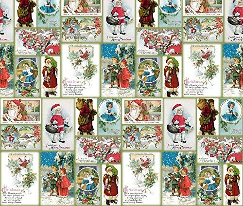 vintage christmas fabric - 1