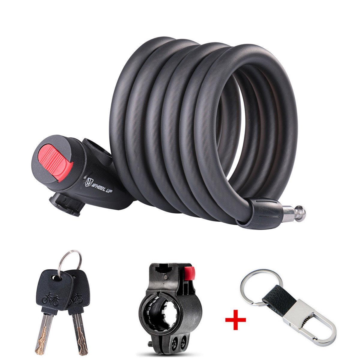ZHIXIE Bike Lock Key Lock Chain Combination Cable Lock For Bicycle Outdoor, Bike, Scooter, Grill & Other Items to Save