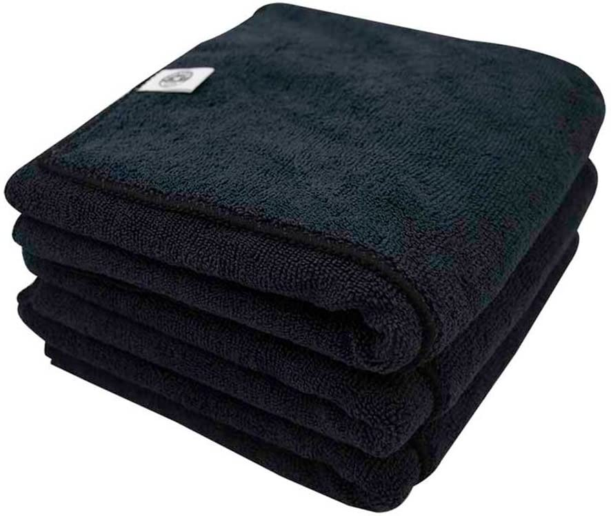 Chemical Guys MIC36103 Workhorse XL Black Professional Grade Microfiber Towel, Rubber/Plastic/Vinyl (24 in. x 16 in.) (Pack of 3)
