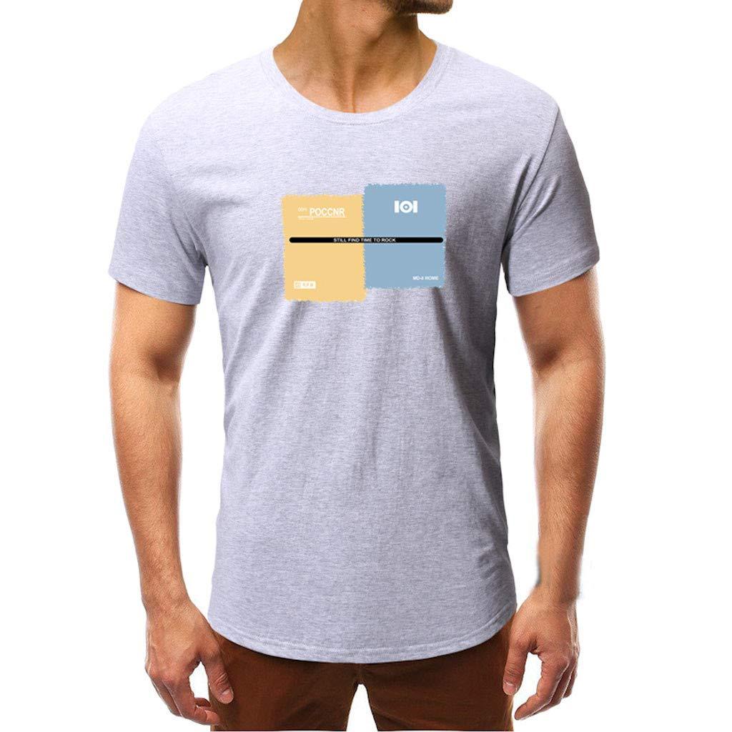 SFE Men Summer Shirts,Mens Printing T Shirt Leaf Short Sleeve Tops Casual Open Shirts Fashuion!