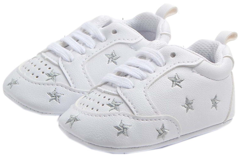 0-1 Year bettyhome Unisex Baby Newborn Silver Star Soft Sole Infant Toddler Prewalker Sneakers