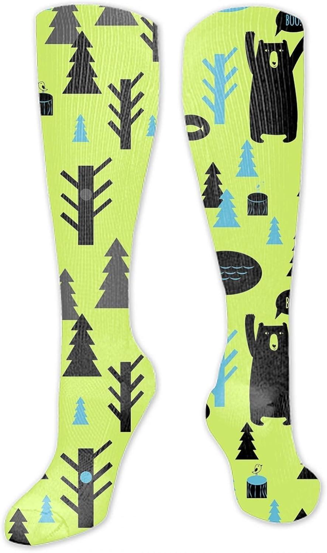 Pattern With Watercolor Birdhouse Colorful Funny Novelty Crazy Socks men//women Fun Dress Socks