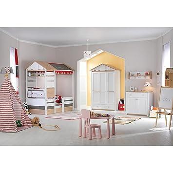 Ensemble complet pour chambre de bébé Blanc Loft Garçon/fille Lit d ...