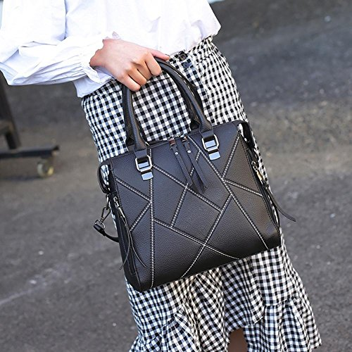 Women Luxury Bags PU Widewing Messenger Lady Handbags Black Bag Shoulder Leather tFnwZdwqO