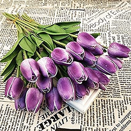Outstanding Amazon Com Floral Kingdom 19 Real Touch Latex Tulips For Download Free Architecture Designs Estepponolmadebymaigaardcom