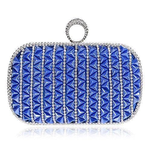 HT Evening Bag - Cartera de mano para mujer Azul