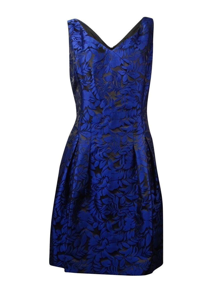 Lauren Ralph Lauren Women Petite Floral Sheath Dress @056 Blue 12P