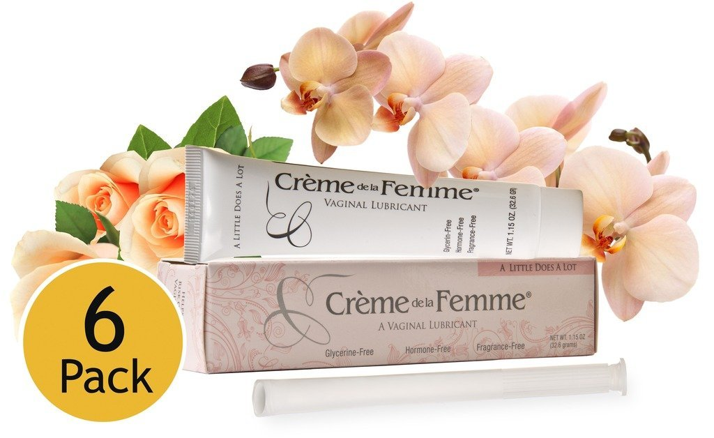 Crème De La Femme 6-Pack, Vaginal Dryness Cream Created by a Woman Doctor, Natural Menopause Dryness Remedy, Lubricant No Yeast Infection, Free Applicator Included by Creme de la Femme