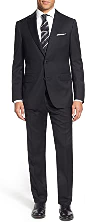 LN LUCIANO NATAZZI Two Button Mens Suit Modern Fit Ticket Pocket Jacket 2 Piece