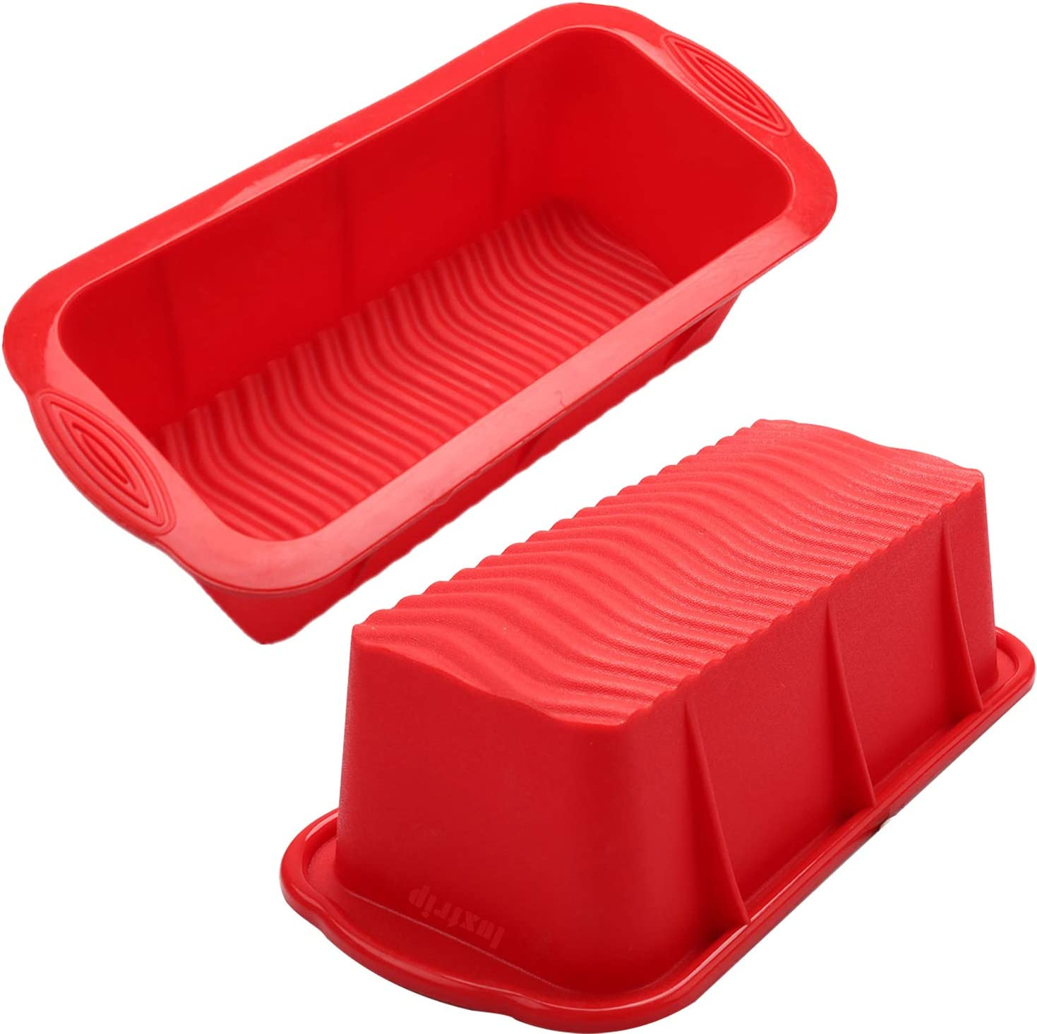 Luxtrip 2 pack Silicone Loaf Pan,Non-stick Loaf Mould for Homemade Baking Cakes and Bread,BPA Free,Dishwasher,Oven and Microwave safer
