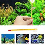 USHOT The Aquarium Fish Tank Thermometer New Glass Meter Aquarium Fish Tank Water Temperature Thermometer Suction Cup