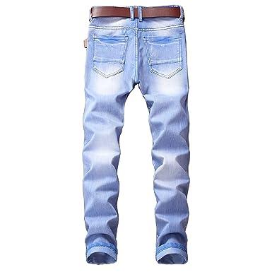 Pantalones De Hombre Pantalones de Vaqueros Vintage Jeans de ...