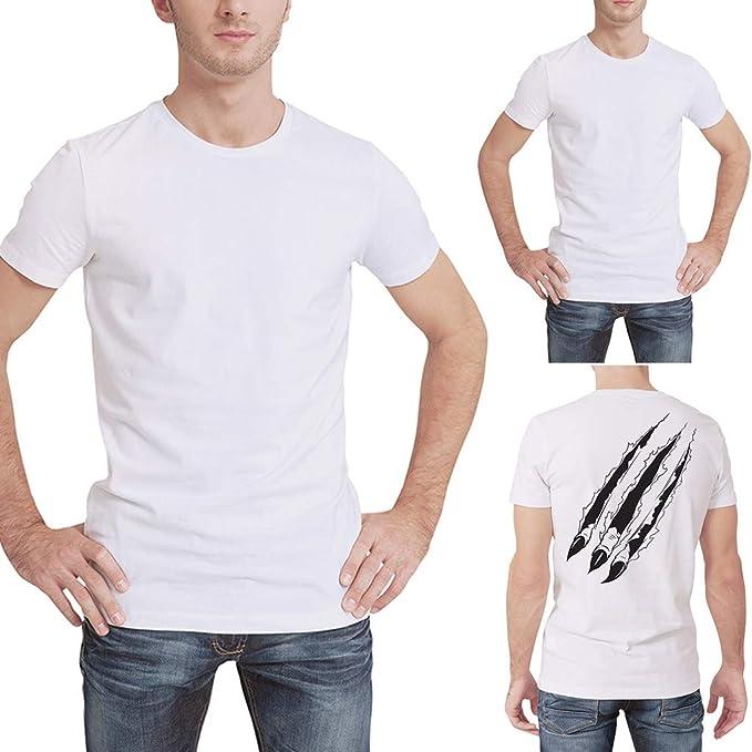 Palarn Mens Fashion Sports Shirts Mens Spring Summer New Casual Fashion Printing O-Neck Short Sleeve T-Shirt Tops