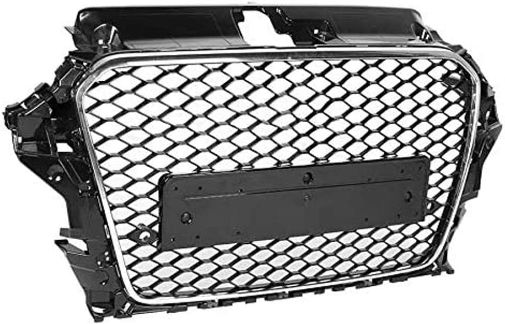 Black ABS BTSDLXX Car Front Radiator Kidney Grilles for Audi A3 S3 8v 2013 2014 2015 2016 Bumper Mesh Air Intake Sport Grill Decorative Accessories