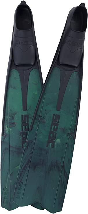 Long Fins for Scuba Diving Spearfishing and Freediving Seac Shout Camo S700