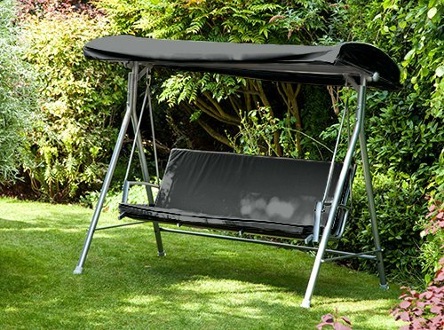 Black Water Resistant Seat Pad for 3 Seater Argos Malibu Swing Seat *Swing not Included* Gardenista