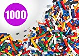 SainSmart Jr. 1000 Pcs Bulk Blocks, Building Bricks with 10 Shapes and Colors, Compatible with All Major Brands