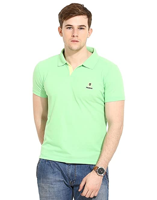 5b3c0e2c Duke Stardust Casual T-Shirt for Men Polo Collar Cotton Blend Material Half  Sleeves Solid Smart Fit (42, Light Green): Amazon.in: Clothing & Accessories