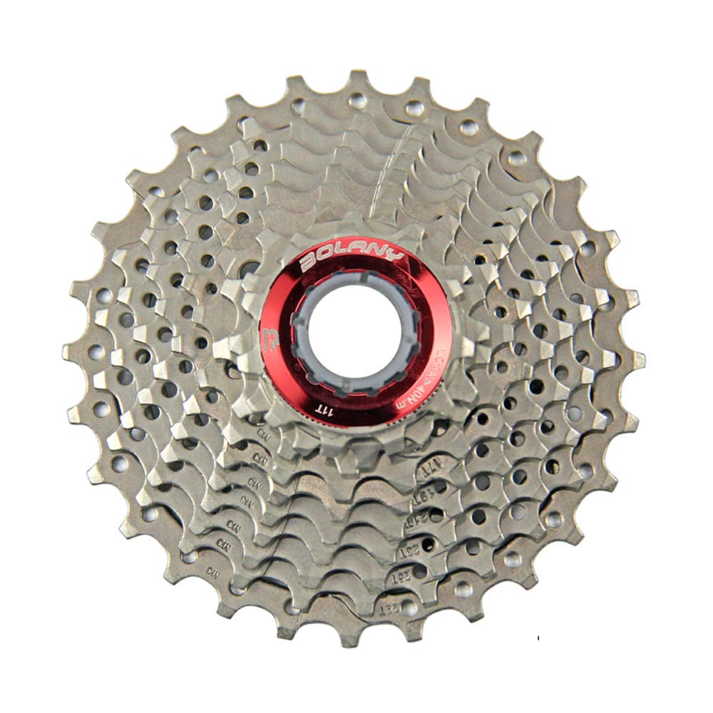 BOLANY 10 Speed Cassette MTB Cassette Silver 11-28T