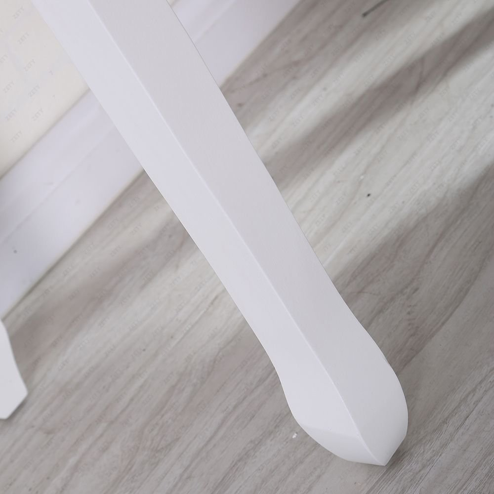 Joolihome Makeup Vanity White Table Set 3 Drawers Wood Bedroom Dressing Table Stool Set with Oval Mirror by Joolihome (Image #6)