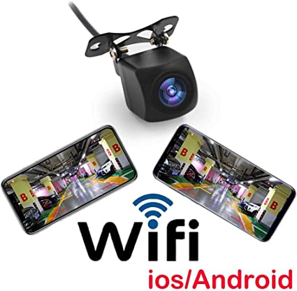 JCOLI Wireless WiFi Car Rear View Backup Reverse Camera Night Vision for iPhone//iPad and Android Cellphone