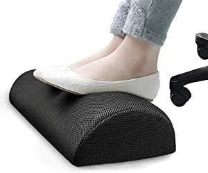 PETSHY Office Foot Rest Under Desk   Soft Memory Foam Footrest Cushion   Relieves Leg,Lumbar, Back, Knee Pain   Non-Slip Bottom,Foot Rest Pillow for Office,Home, Airplane, Travel