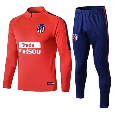 18-19 Atlético de Madrid Mangas largas Traje de Entrenamiento Casual Fútbol Traje Traje Ropa Deportiva Informal para Hombres