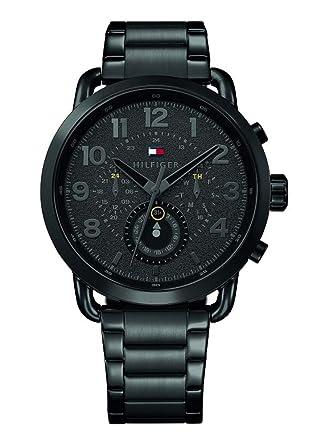 b2a15bc308bc9 Tommy Hilfiger Homme Multi-Cadrans Quartz Montre avec Bracelet en Acier  Inoxydable 1791423