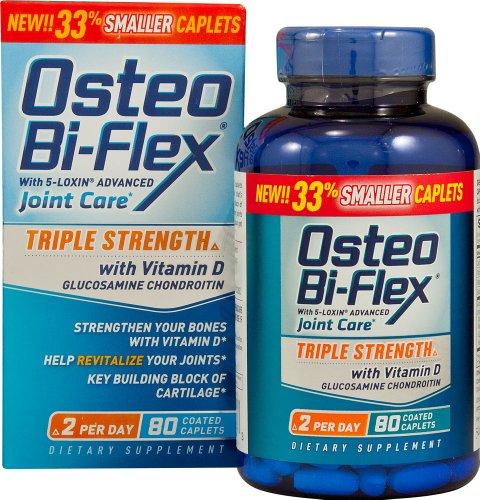 Osteo Bi-Flex avec le 5-Loxin avancée de soins mixte Force Triple 80 Caplets couché