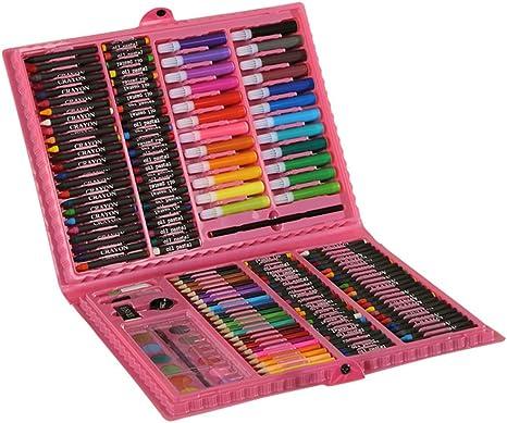MTTLS Kit De Arte Profesional, 168 Piezas De Lápices De Colores Kit De Arte para Niños, Adolescentes Y Adultos/Conjunto De Caja De Regalo para Dibujo, Pintura Y Más,Pink: Amazon.es: Deportes y aire