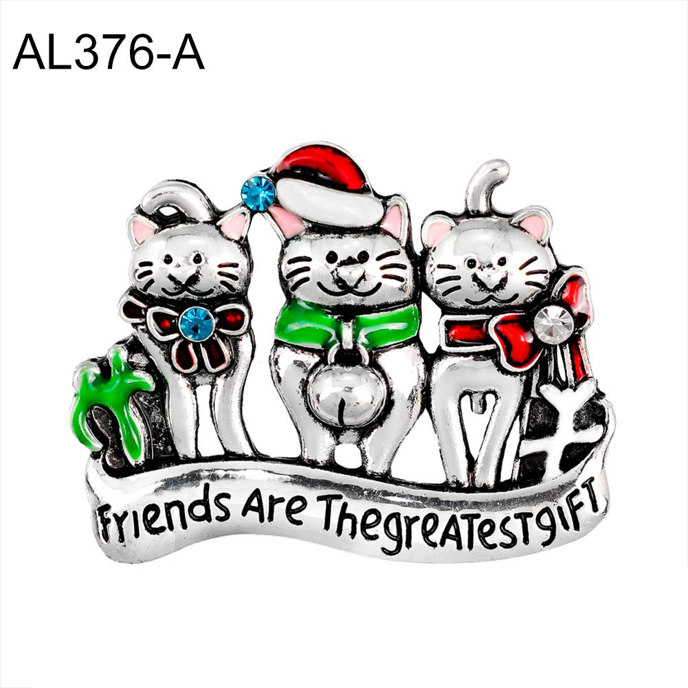 angel3292 Fashion Women Cartoon Cat Enamel Rhinestone Brooch Xmas Christmas Party Gift