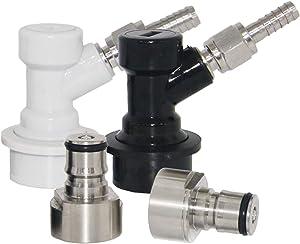LUCKEG BF KMKCA-BLCP-CS Ball Lock Adapte keg coupler, 5/16, Silver