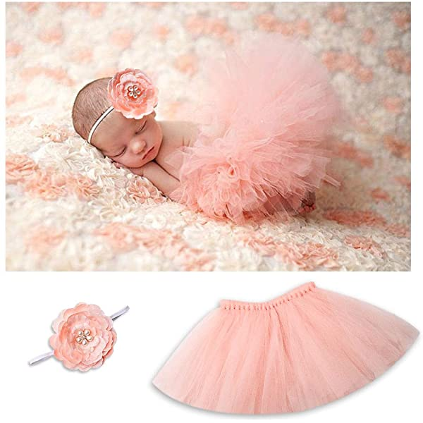 Princess Dresses Birthday Party Decorations Tulle Skirt Baby Girls Tutus for Girls Cute Bow Tutu for Baby Girls Outfits 5pcs Layered Purple Tutu Skirts Set with Floral Unicorn Horn Headband/&Shoes