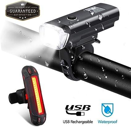 Fahrradlichter Set Led Licht Fahrrad Fahrradlicht LED Fahrrad R/ücklicht USB Led Lights Bike Licht f/ür Fahrr/äder Fahrradr/ücklicht