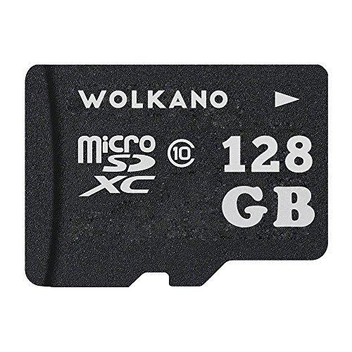 Wolkano128GB MicroMiniSD Card Class 10 Memory Card 128gb with Adapter