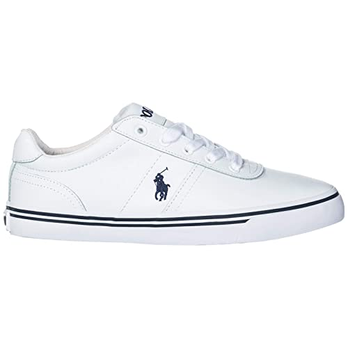 98d49b92607 Polo Ralph Lauren Men s Shoes Leather Trainers Sneakers Hanford White UK  Size 6 816168180110
