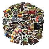 Derson 50PCS Baby Yoda Cartoon Doodle Suitcase Skateboard Waterproof Sticker Decal Vinyl Sticker for Car, Truck, Window, Bumper, Laptop