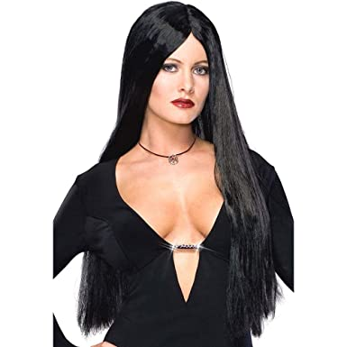 Rubies Costume Co Adult Morticia Addams Costume WigBlackOne Size  sc 1 st  Amazon.com : adult costume wigs  - Germanpascual.Com