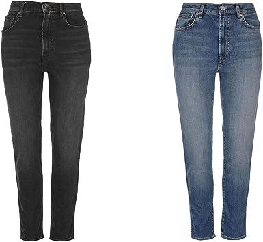 Amazon Com Pepe Jeans Betty Pantalones Vaqueros Rectos De Cintura Alta Para Mujer Clothing