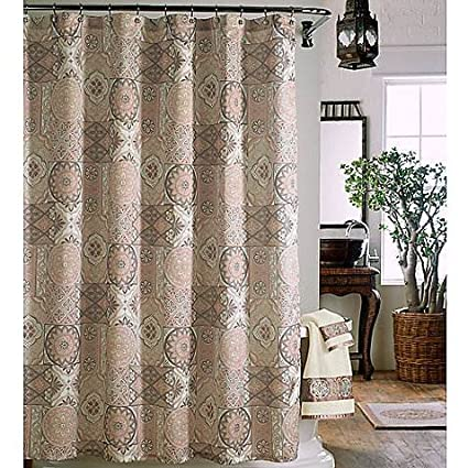 Image Unavailable Not Available For Color J Queen New York Casablanca Medallion Tile Fabric Shower Curtain