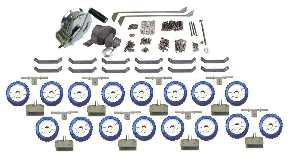 WaveRunner Jet SKi Boat Docker Watercraft Shore Lift Ramp Dock Caster Wheel Kit Set Custom Install Parts