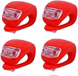 Silicone Bike Bicycle Rear Wheel LED Flash Light Red By Buyincoins