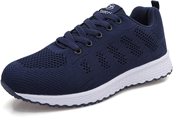 Youecci Mujeres Zapatillas de Deportivos de Running para Mujer Gimnasia Ligero Sneakers Malla Transpirable con Cordones Zapatillas Deportivas para Correr Fitness Atlético Caminar Zapatos: Amazon.es: Zapatos y complementos
