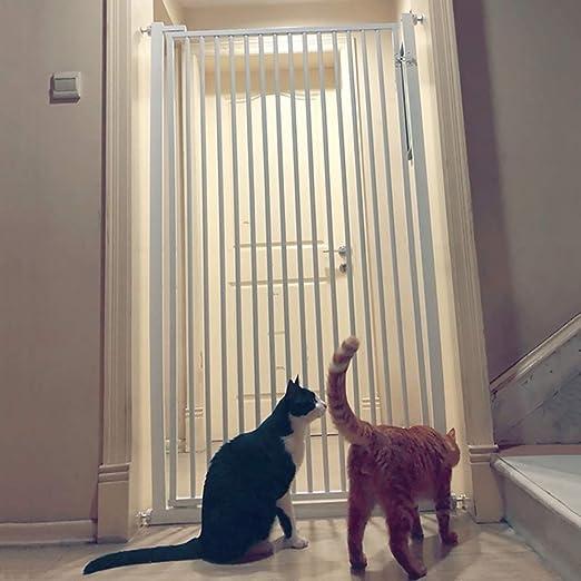 LYF Barra para Puerta de bebé para Mascotas, Cerca de perforación Libre Escalera Gato Puerta para Aislamiento de Perro Barra para Puerta de bebé para bebé Blanco ...