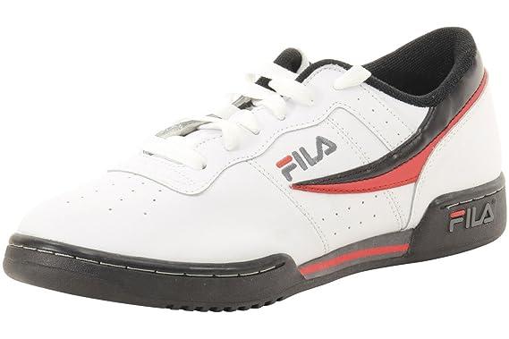 a933c1473ad6 Amazon.com  Fila Men s Original Fitness Sneakers White   Black ...