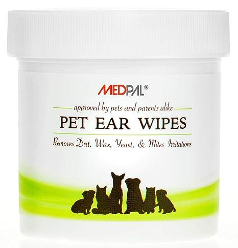 Amazon.com: Toallitas limpiadoras de orejas para perros y ...
