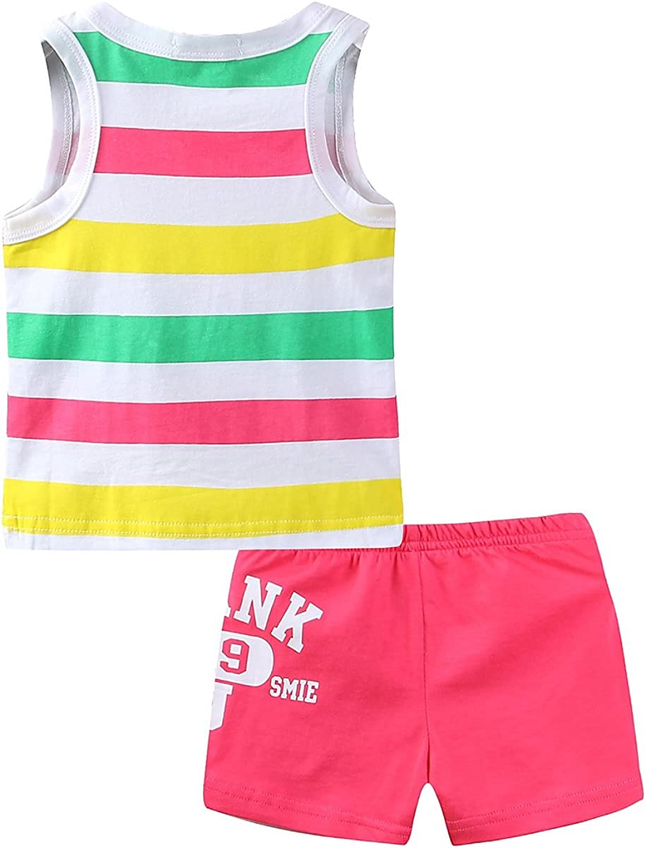 Mud Kingdom Little Boys Holiday Outfits Summer Tank Tops and Shorts